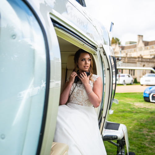 Helicopter Charter Service for Weddings